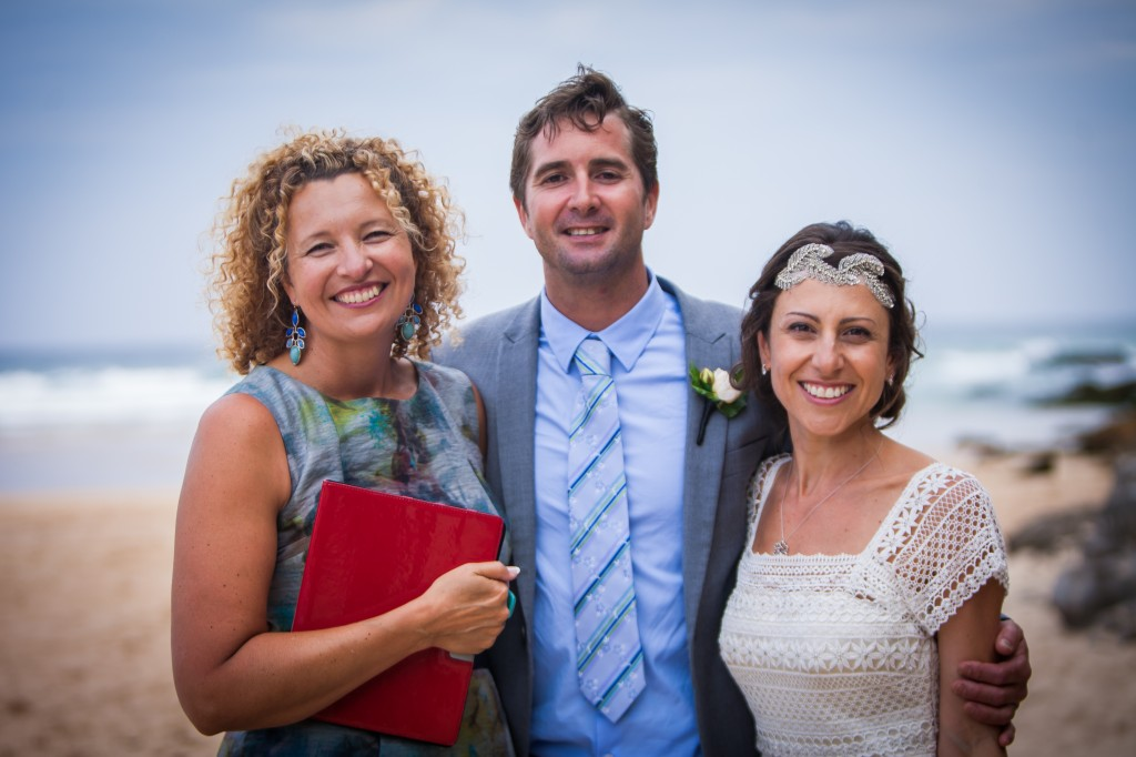 Melissa and Terrence were married at Freshwater Beach in a relaxed and intimate ceremony full of love and joy.
