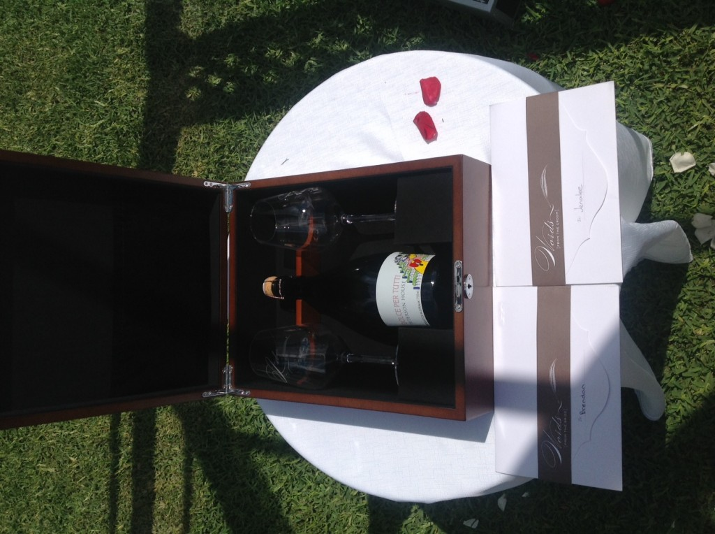 This is a great idea, bottle of wine and lover letters, for special anniversary or first 'fight' xx