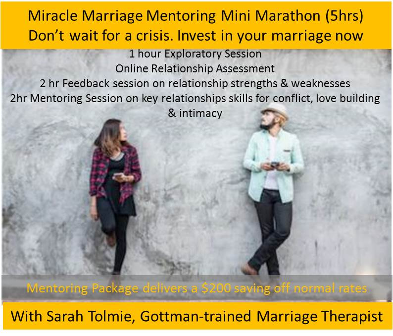 Miracle Marriage Mini Marathon Mentoriing